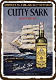 Laptopo 1964 Cutty Sark Scotch Whiskey Vintage-Look Replica Metal Sign
