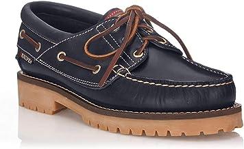 Snipe Zapato Náutico Negro para Hombre - Cuero