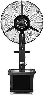 Ventilador de Pedestal Ventilador De Pedestal Spray Ventilador Eléctrico Industrial Ventilador De Enfriamiento De Piso Oscilante Cabezal De Ventilador Ajustable De 3 Velocidades Silencioso Portátil