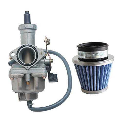 SaferCCTV 27mm Cable Choke PZ27 Carburetor Compatible with 4 Stroke CG 125cc 150cc 200cc 250cc ATV Go Kart Dirt Bike Taotao Sunl Quad Carb Chinese sunl with Fuel Filter (Carburetor with Air Filter)