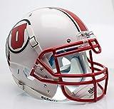 NCAA Utah Utes with Stripe Authentic Helmet, One Size