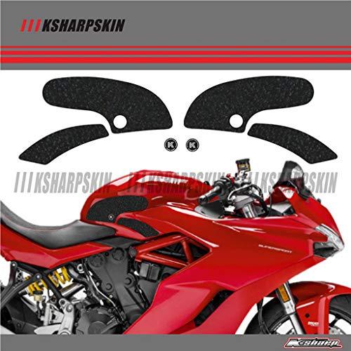 3D Sticker Aufkleber Emblem Protector für Ducati SUPERSPORT 2017-2018(Schwarz)