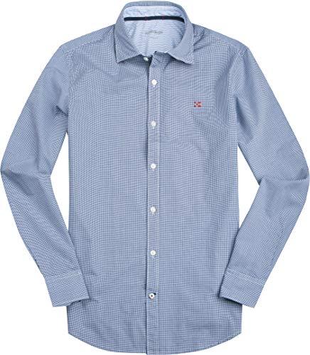 Napapijri Herren Hemd Oberhemd, Größe: XL, Farbe: Blau