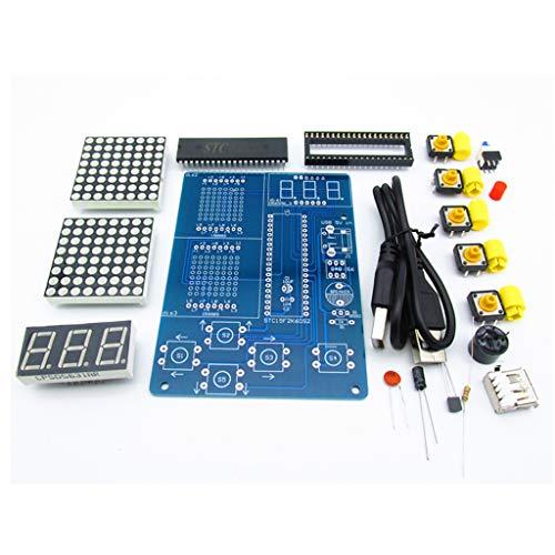 JIACUO Kit de Juego de Bricolaje Retro Clásico Juego de Soldadura electrónica 51 Chip único con Sonido de Fondo Caja Rusa/Serpiente/Avión/Desinstalación de Carreras