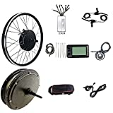 SKYWPOJU Kit de Conversion de vélo électrique 48V 1000W, kit de Conversion de Moteur de vélo...