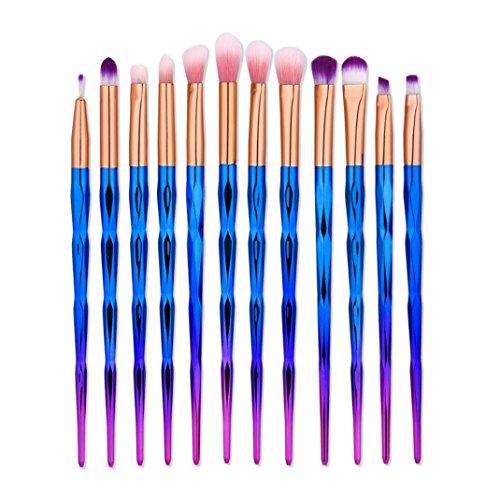 Makeup brushes,ABCsell Makeup Brush Set With 12Pcs Blending Pencil Foundation Eye shadow Makeup Brushes Eyeliner Brush