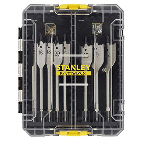 STANLEY STA88556-XJ 8-Piece FATMAX Wood Drill Bit Set