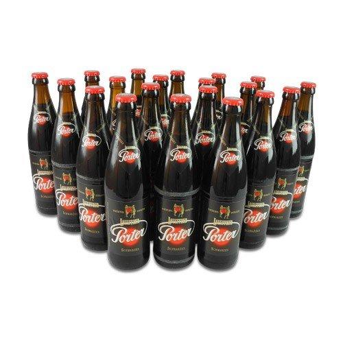 Lausitzer Porter Schwarzes (20 Flaschen Schwarzbier à 0,5 l / 4,4% vol.) inc. 1.60€ MEHRWEG Pfand