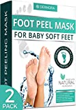 Foot Peel Mask - 2 Pack - For Cracked Heels, Dead Skin & Calluses - Make Your Feet Baby Soft & Get a Smooth Skin,...