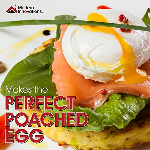 Egg Poacher Pan - Stainless Steel Poached Egg Cooker – Perfect Poached Egg Maker – Induction Cooktop Egg Poachers Cookware Set with 4 Large Egg Poacher Cups and Silicone Spatula