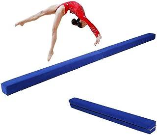 7FT Poutre d/équilibre Antid/érapante en Daim pour Enfant Adulte Entra/înement Sportif 2.2m Zerone Poutre de Gymnastique Pliable