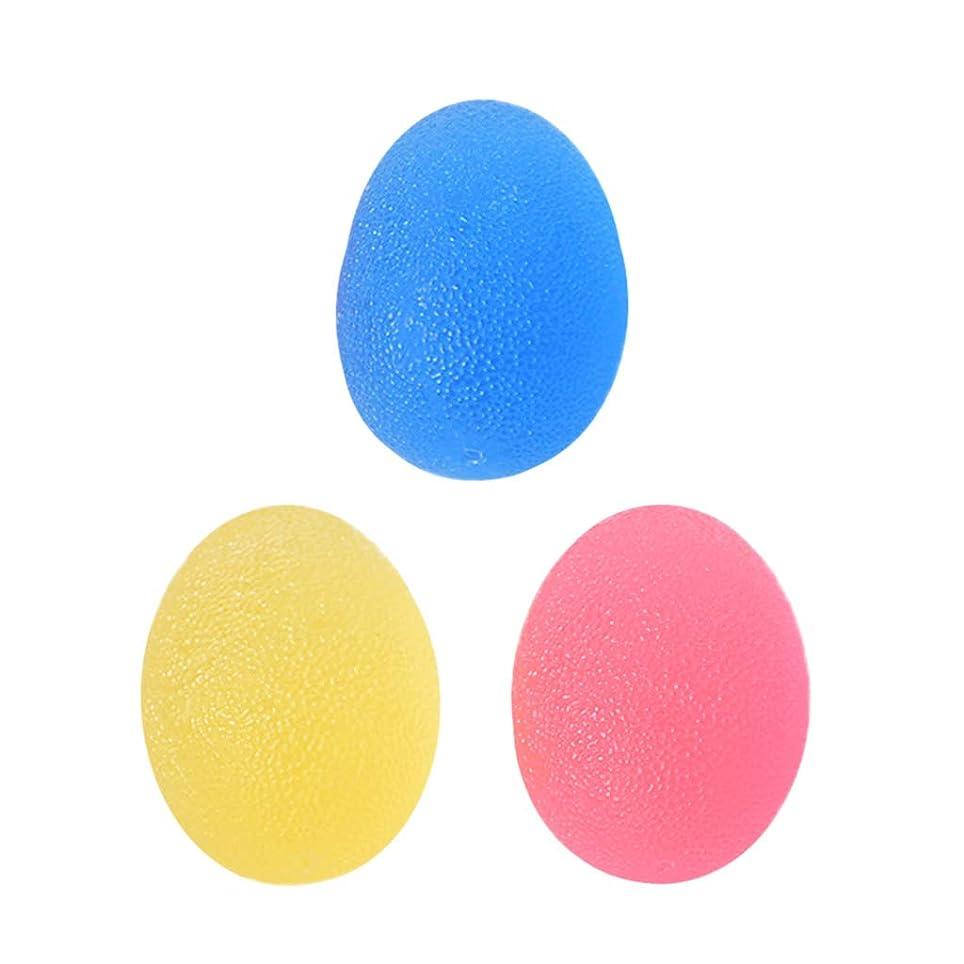 机略語異形Perfeclan 3個 グリップボール 指 手のひら 運動 グリップ ハンド スクイズボール エクササイザボール