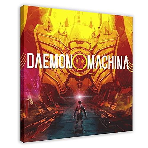 Daemon X Machina Poster sur toile pour chambre à coucher, décoration sportive, paysage, bureau, chambre, cadeau, 70 x 70 cm