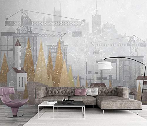 Non-woven photo Wallpaper-Modern丨Concise丨City丨Architecture丨-Wall decal Mural Bedroom Room living Room library office Decor Painting-200cmx140cm