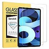 Gerutek 2 Piezas Protector Pantalla para iPad Air 4 y iPad Pro 11, Dureza 9H, Antiarañazos, Antihuellas, Transparente Vidrio Templado para iPad Air 10.9 Pulgadas 2020 y iPad Pro 11 Pulgadas 2020/2018