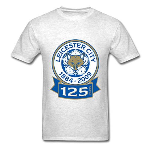 Ty Leicester City 125Logo T Shirt para Hombre Light Oxford