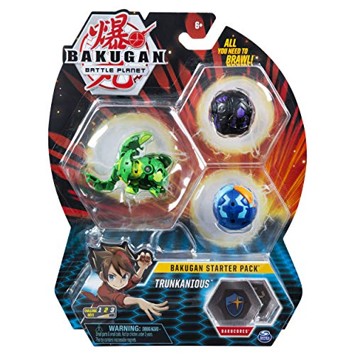 Bakugan 6058570 - Starter Pack mit 3 Bakugan (Ultra Ventus Trunkanious, Basic Darkus Nillious, Basic Aquos Vicerox)