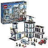 LEGO City - Comisaría de Policía, Set de Construcción Educativo para Niños y Niñas de 6 a 12 Años de Juguete de Policía con Helicóptero y Coches (60141)