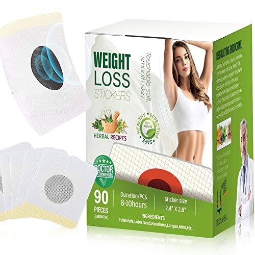Weight Loss Sticker, Quick Slimming Tightening Sticker for Beer Belly, Buckets Waist, Waist Abdominal Fat-90PCS