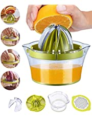 Snowpea Handmatige Citruspers Citroenpers Vaatwasmachinebestendig, Multifunctionele Sinaasappel-citrus-limoenpers, Handfruitpers met Maatcontainer 400ml