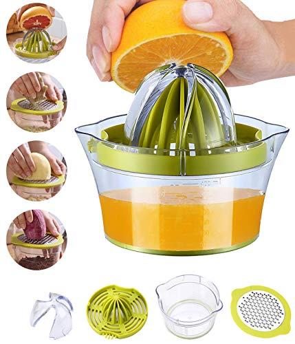 Snowpea Manual Juicer Lemon Squeezers Dishwasher Safe, Multifunctional Orange Citrus Lime Juicer, Hand Fruit Press with Measuring Container 400ml