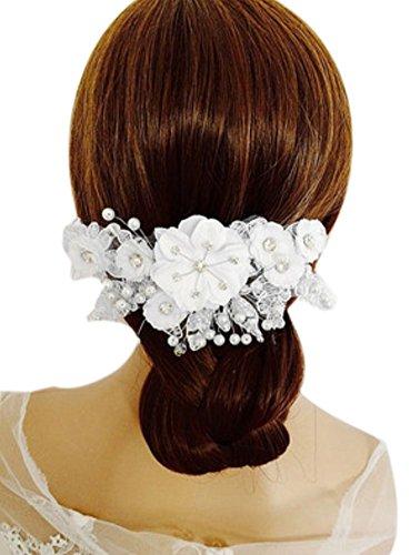 Barrette à cheveux charmant Accessories de cheveux de mariage,Blanc
