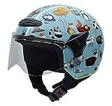 NZI 050269G711 Helix Jr Graphics Animals Casco de Moto, Talla 50-51 (S)