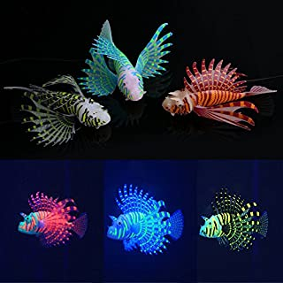 Global Brands Online Yani Aquarium Ornament Glowing Effect Silicone Artificial Decoration for Fish Tank