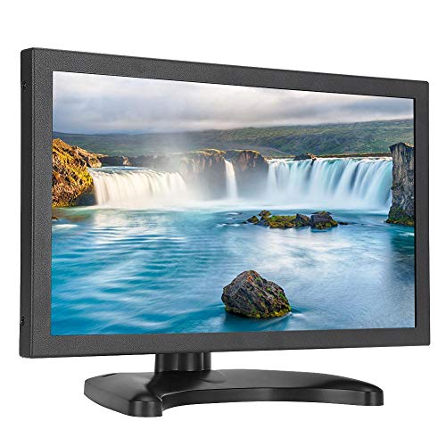 Monitor industriale Full HD, display touchscreen widescreen 16: 9 da 11,6 pollici Schermo TFT HDMI VGA USB Interfacce multiple Display incorporato a contrasto 1000: 1 per PC, TVCC, videocamere,etc(EU)