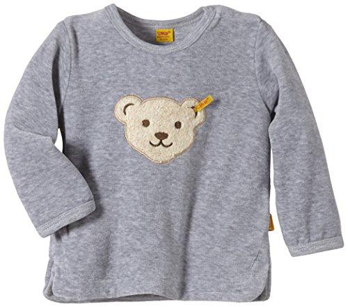 Steiff Unisex - Baby Sweatshirt 1/1 Arm, Gr. 68 (Herstellergröße: 68), Grau (Steiff softgrey melange gray 8200)