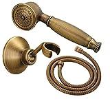 Rociador de Ducha, Set de Ducha, Rociador de Latón Retro Con Forma de Teléfono, Con Plato de Ducha y Manguera de 1.5 M, Para Bañera y Ducha