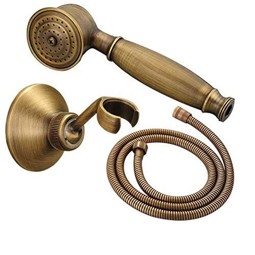 Soffione Doccia, Set Doccia, Telefono Doccia Retrò in Ottone, Con Supporto Doccia e Tubo da 1.5 M, Per Vasca e Doccia