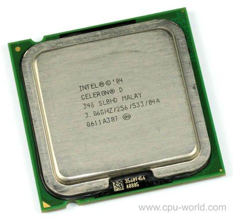 Intel Celeron D sl7tm CPU 2.66GHz/256/533Sockel 775Prozessor