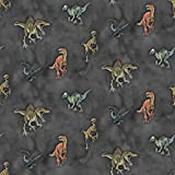 Hans-Textil-Shop Stoff Meterware Digitaldruck Jurassic