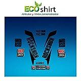 Ecoshirt AM-QLAA-51NS Autocollants Stickers Fork Rock Shox Xc32 2017 Am170 Autocollants Fourche Noir