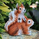 Ardilla en un árbol Árbol de jardín Abrazador turístico Escultura al Aire Libre Regalos y decoración de jardín Ardilla trepadora Árbol Estatuas de Resina Adornos-Ardilla de jardín.