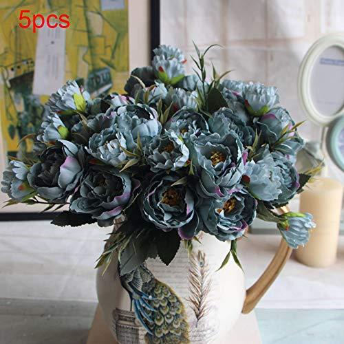 XdiseD9Xsmao Kunstmatige zijden bloem pioenroos kunstmatige bloemen bruidsboeket bankett bruiloft decoratie voor de tuin van uw huis