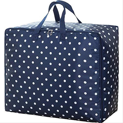 Bolsa de almacenamiento Bolsa de almacenamiento Impermeable a prueba de humedad Bolsa de acabado Equipaje móvil Ligero y delgado: 55 x 35 x 20 cm Flores azules