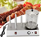 Machine à Hot Dog avec 4 Hot Dogs Dispositif à Hot Dog Bockwurstwarmer Sausage Warmer