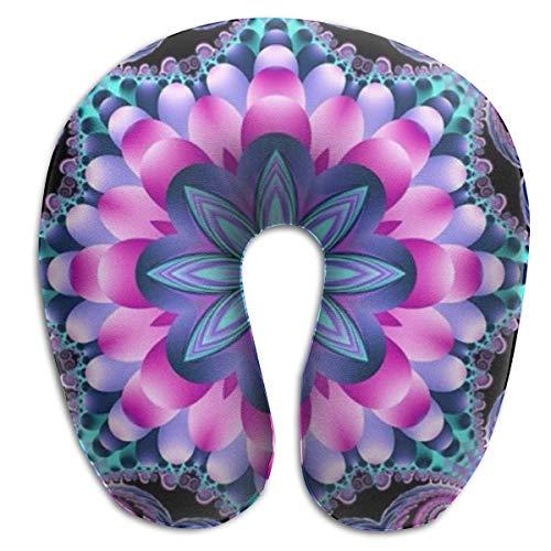Almohada en Forma de U, Cuello, Arte, Flor, Viaje, Almohada Multifuncional, Coche, avión