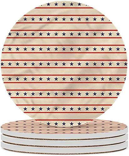 Posavasos de cerámica Primitive Country Posavasos nostálgicos de EE. UU. Para sala de estar, cocina u oficina