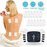 Électrostimulateur TENS Anti-Douleur et électrostimulation Musculaire EMS - rééducation, soulagement des douleurs, Massages, Soins de kinésithérapie - 8 programmes de Massage + 12 électrodes