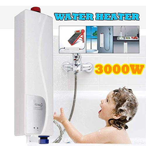 Elikliv 3000W Instant Electric Hot Tankless Water Heater Mini Hot...