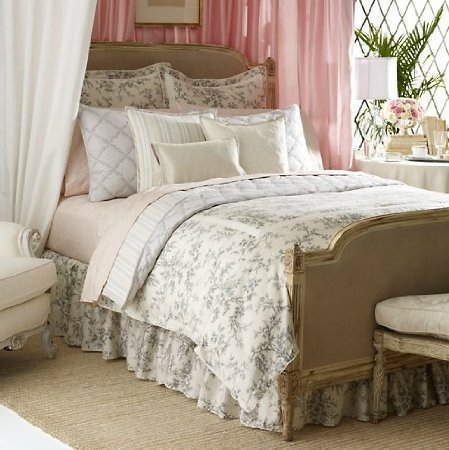 Review Of Lauren Ralph Lauren AUTH 100% Cotton ONE King BEDSKIRT ST. Honore NWT