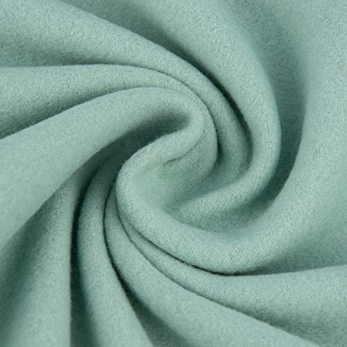SCHÖNER LEBEN. Baumwollfleece Fleece aus Baumwolle einfarbig Mint 1,55m
