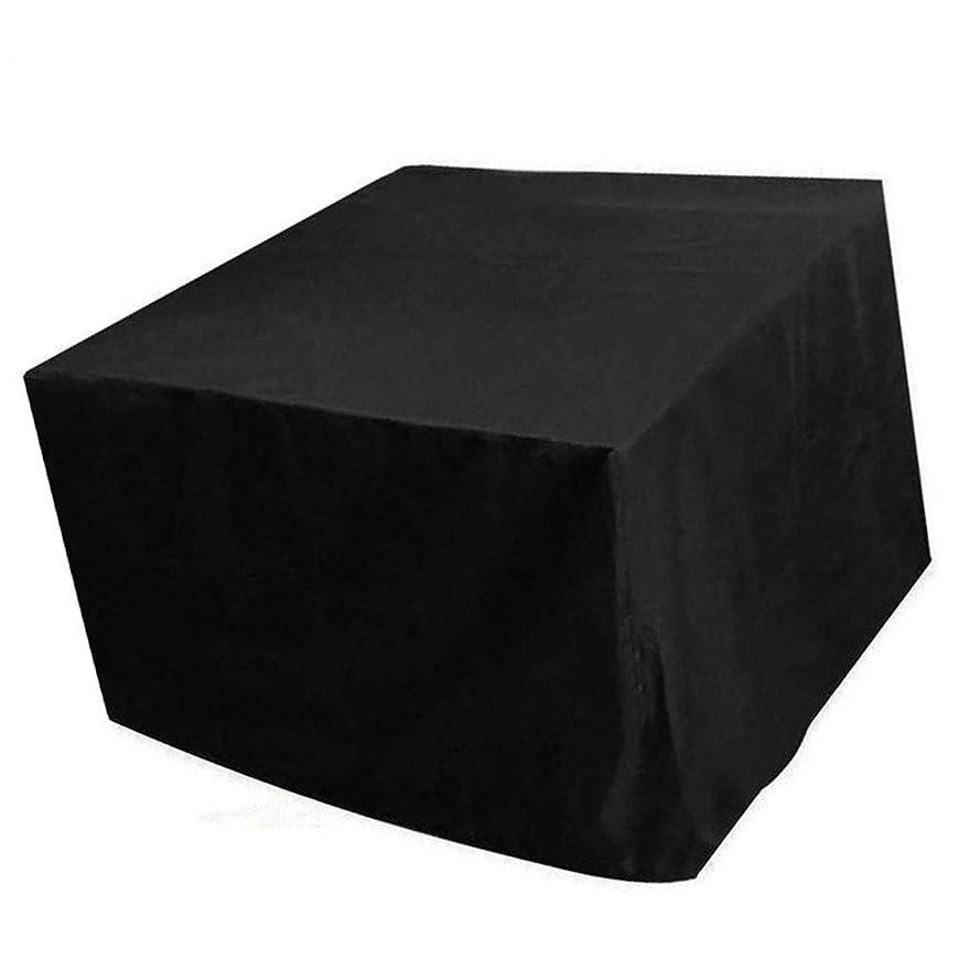 できる最初は透けて見えるFQJYNLY ガーデン家具カバー耐候性耐摩耗性オックスフォード布屋外用テーブルカバー収納袋付き防塵、32サイズ (Color : Black, Size : 200×140×90cm)