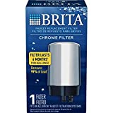 Brita Tap Water Filter, Water Filtration System Replacement Filters For Faucets, Reduces Lead, BPA Free – Chrome, 1 Count