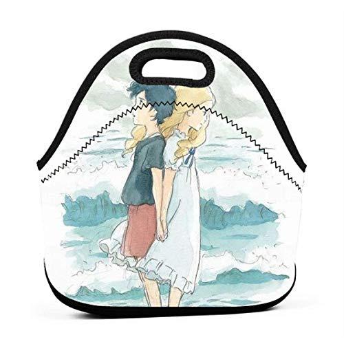 Lunch Bag Als Marnie Dort War Ghibli Geschenk Reißverschluss Lunch Bag Outdoor Personalisierte Handtasche Gourmet-Tasche Multifunktional Für Grill Office Work School