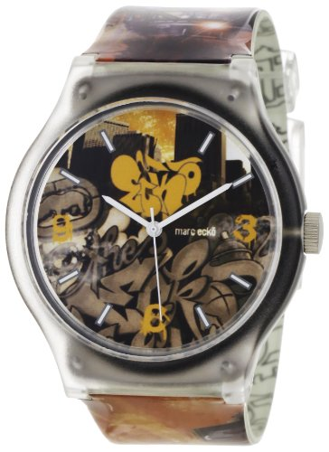 Marc Ecko Reloj Análogo clásico para Hombre de Cuarzo con Correa en Resina E06503M1