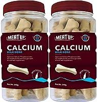 Meat Up Calcium Bone Jar, Dog Supplement Treats - 240 gm, 30 Pieces (Buy 1 Get 1 Free)